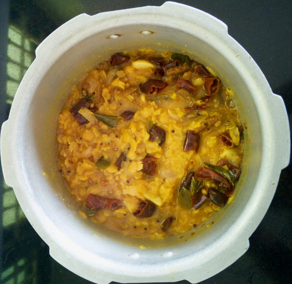 cooked dal menthi pappu